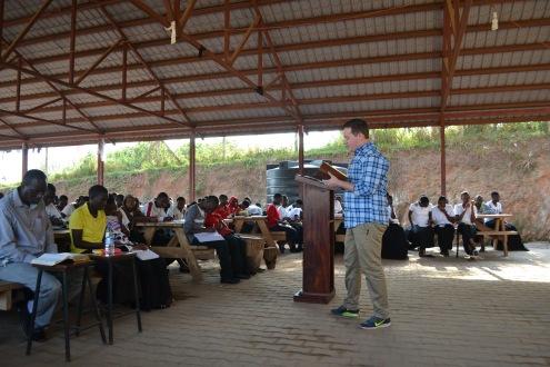 Daniel speaking at God Cares