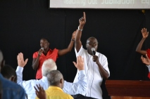 Worship with Pastor Dongo.