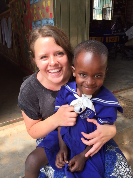 Megan with the child she sponsors
